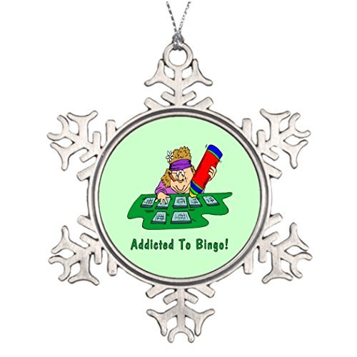 Vehfa Addicted Ideas for Decorating Christmas Trees Halloween Snowflake Ornaments Bingo Games Player ()