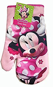 Disney Mickey or Minnie Mouse Pot Holder Oven Mitt and Kitchen Hand Towel (Minnie Oven Mitt)