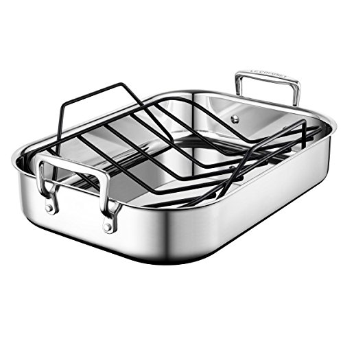 Le Creuset Stainless Steel Small 14 X 10 Inch Roasting Pan