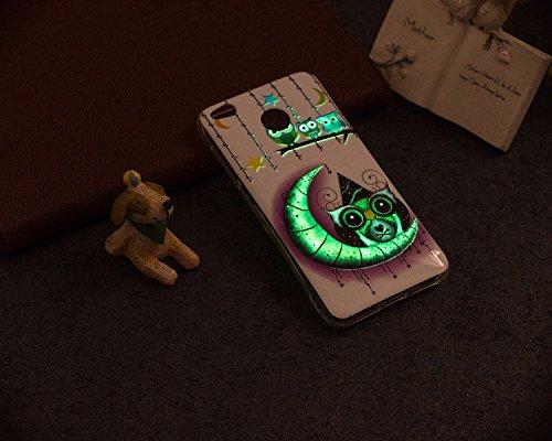 Funda Luminosa para Xiaomi Redmi 4X, Mosoris Noctilucent TPU Silicona Carcasa Ultra Delgado Flexible Cristal Gel Protectora Caja Anti Rasguños Anti Choque Caucho Bumper Delgado Ligero Case Brillando e moon
