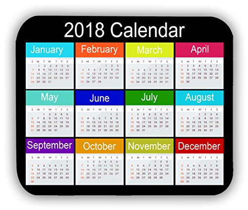 2018 Calendar Anti-Slip Pad Mat Mice Mousepad Desktop Mouse pad laptop Mouse pad Gaming Mouse pad by INFOPOSUSA