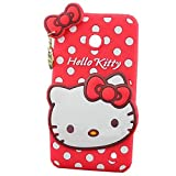 Lumia 635 Case,Lumia 635 Hello Kitty Silicone Case,Tribe-Tiger 3D Cute Cartoon Hello Kitty Soft Silicon Gel Rubber Case Cover Skin for Nokia Lumia 635(Red Hello Kitty)