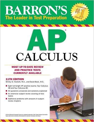 Barron S Ap Calculus 11th Edition Bock M S David Hockett M A Shirley O 8580001045313 Amazon Com Books