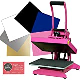 Pink Craft Heat Press Bundle with Siser Easyweed, Warranty & U.S. Support