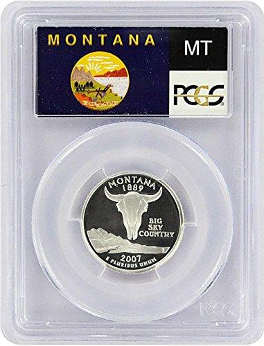 2007 Montana State S Silver Proof Quarter PR-69 PCGS