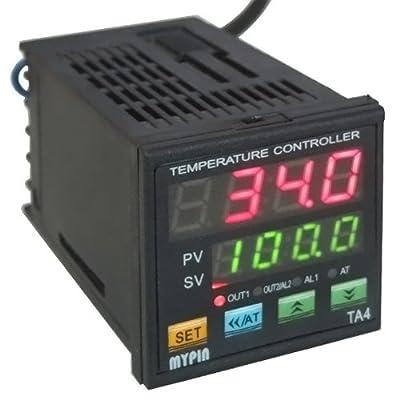 1/16 DIN Dual Digital F/C PID Temperature Controller SSR(2 Alarms)