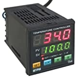 AGPtEK PID Temperature Controller TA4-SNR Solid State Relay With 1 Alarm, SSR Control output RELAY Alarm Output