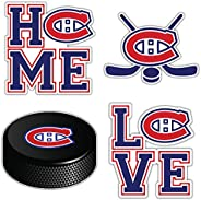 """Canadiens Hockey - Montreal Set of 4 Car Bumper Stickers Decals 5"""" Longer"""