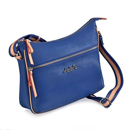 1017 talla CABALLO main Sac unica dos EL pour à azulon porté au femme Bleu 337 1SBwnEq