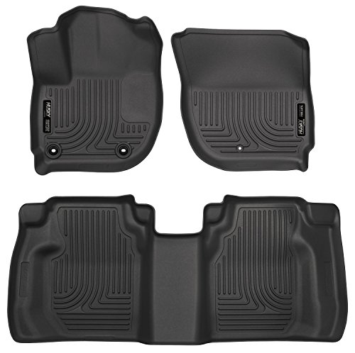 Husky Liners Front & 2nd Seat Floor Liners (Footwell Coverage) Fits 15-18 Fit - Exact Fit Mats