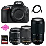 Nikon D5600 DX-format Digital SLR Camera + AF-S DX Zoom-Nikkor 18-55mm f/3.5-5.6G ED II + AF-S VR Zoom-Nikkor 70-300mm f/4.5-5.6G IF-ED + AF-S DX NIKKOR 18-140mm f/3.5-5.6G ED VR + Free Accessories