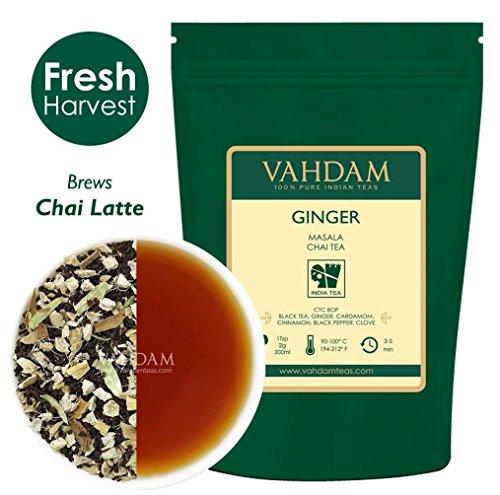 VAHDAM, Ginger Masala Chai Tea    100% NATURAL SPICES   Auth
