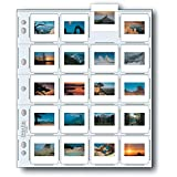 """Print File Archival Storage Page for Slides, 35mm (2x2""""), Holds 20 Slides, Top-Load, Heavyweight (8-Mil), Clear Back (Binder Only) - Pack of 25"""