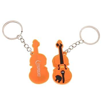 perfk 2 Piezas Llavero de Música Bolso Monedero para ...