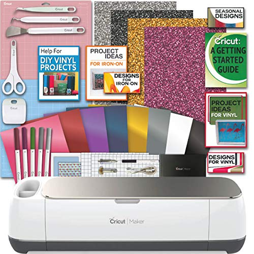 Cricut Maker Champagne Machine Bundle Smooth Heat Transfer Perm. Vinyl Tools Designs Guide