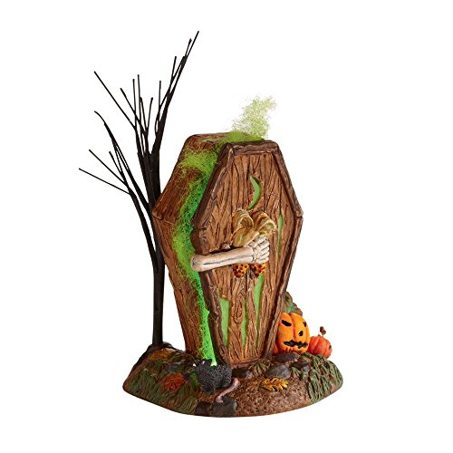 Department 56 Halloween Village Cross Product Dying To Get In Outhouse (Coffin Shaped Halloween Gift Box)