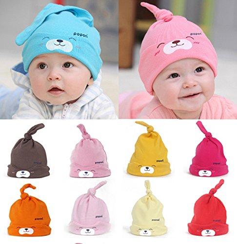 [Hot Sale! Comfort Cartoon Baby Toddlers Cotton Sleep Cap Headwear Cute Hat Mult-color (Approx 13.38
