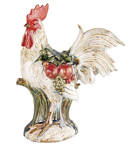 TIC Collection 24-515 Selectives Perched Rooster Ceramic Figurine Ceramic Rooster Figurine
