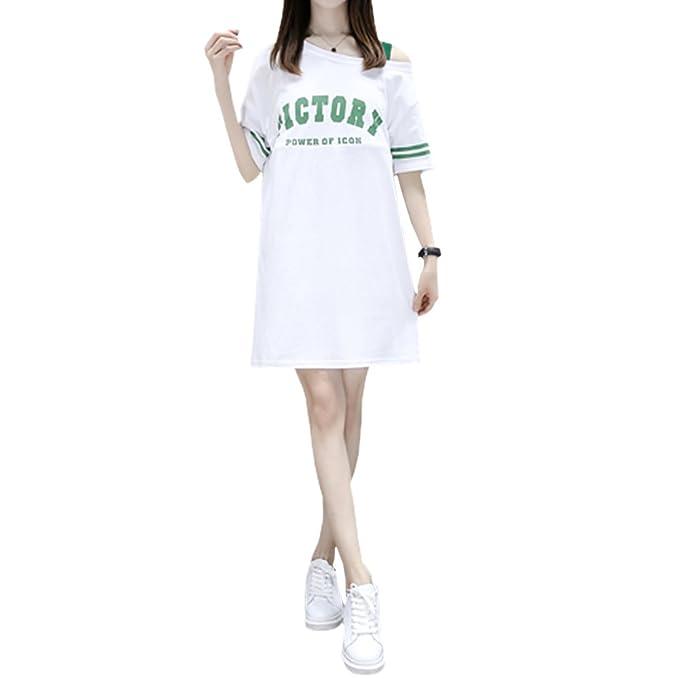 BOZEVON Vestido Lactancia de Mujer Embarazo - Moda Premamá Blusa Maternidad de Manga Corta Verano Camiseta