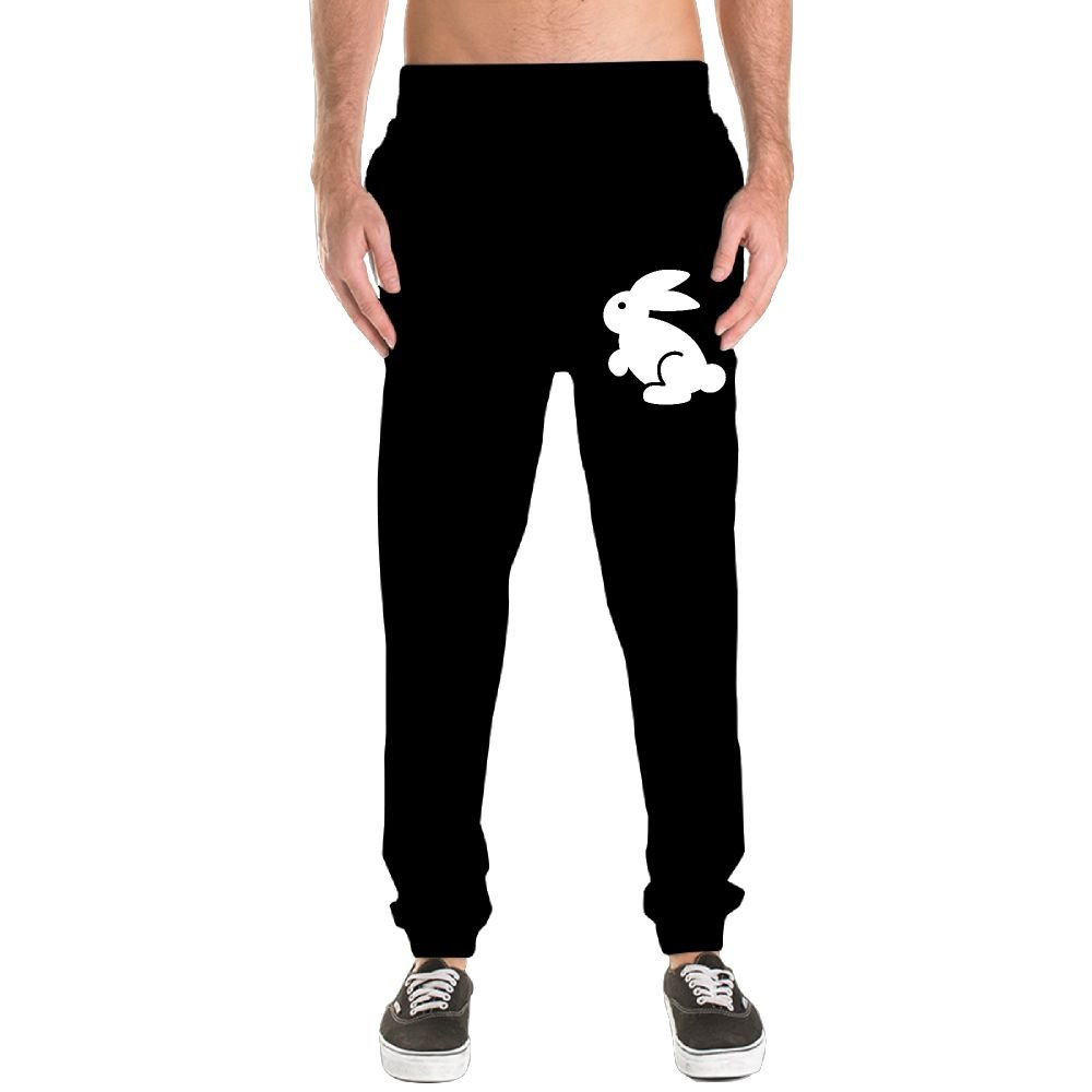 Bunny Men's Jogger Sweatpants Drawstring Elastic Waist Outdoor Running Trousers Pants With Pockets by Xianjingshui