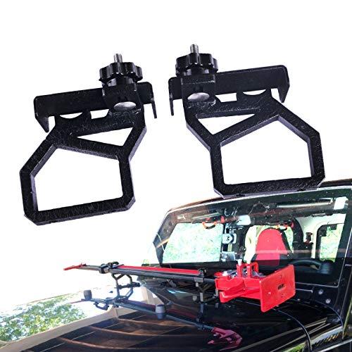 omotor Hood Hi-Lift Jack Hood Mounts Brackets Fit for 2007-2018 Jeep Wrangler -
