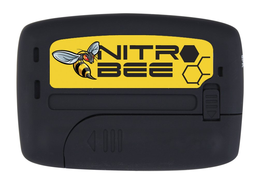 NITRO BEE Single Channel UHF Race Receiver with Channel Lock for Racing Radios Electronics - Includes Foam Stereo Earbuds and Belt Holster Clip
