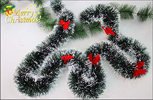 2Pcs /Lot Natural Christmas Garland Brace Decoration Red Berries & Flowers Pine Cones with Butterfly Buds -