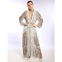 Vestido Longo De Chiffon Com Detalhe De Ilhós
