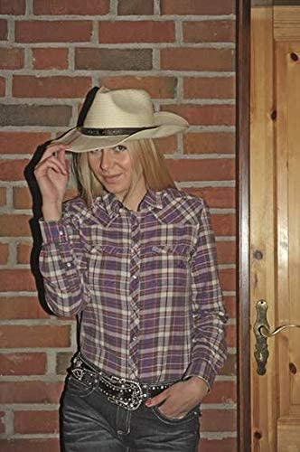 lila//karo Texas Fashion- HKM Western Westernbluse M