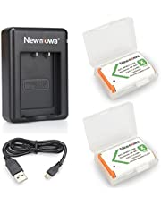Newmowa NP-BX1 Batería de repuesto (2-Pack) y Kit de Cargador Doble para Micro USB portátil para Sony NP-BX1, NP-BX1/M8,Sony Cyber-shot DSC-HX50V, DSC-HX300, DSC-HX400,DSC-RX1, DSC-RX1R, DSC-RX100, DSC-RX100 II,DSC-RX100 VI, DSC-RX100M II, DSC-WX300, HDR-AS10, HDR-AS15, HDR-AS30V,HDR-AS50R, HDR-AS100V, HDR-AS100VR, HDR-AS300R,HDR-CX240, HDR-MV1, HDR-PJ275,FDR-X3000, FDR-X3000R