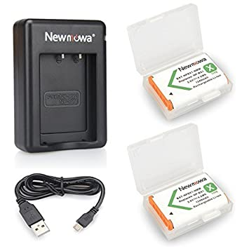 Newmowa NP-BX1 Batería de repuesto (2-Pack) y Kit de Cargador Doble para Micro USB portátil para Sony NP-BX1 / M8 y Sony Cyber-Shot DSC-RX100, ...