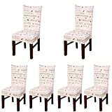 Deisy Dee Stretch Chair Cover Removable Washable Hotel Dining Room Ceremony Slipcovers Pack Of 6