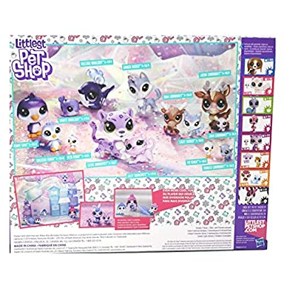 Littleest Pet Shop Chillin' Together Series 1 Exclusive Set 14 Figures (Includes: Cariboo, Snow Leopard, Whale, Husky, and Penguin): Toys & Games