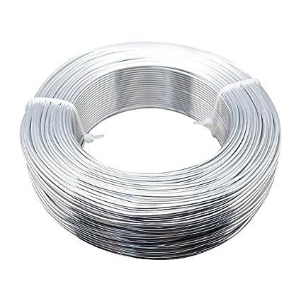 74025a4ed658 PandaHall Alambre de Aluminio para Hacer Pulseras Collares aretes bisuteria  alalmbre de Metal para Manualidades artesania DIY Plata 2mm diámetro ...