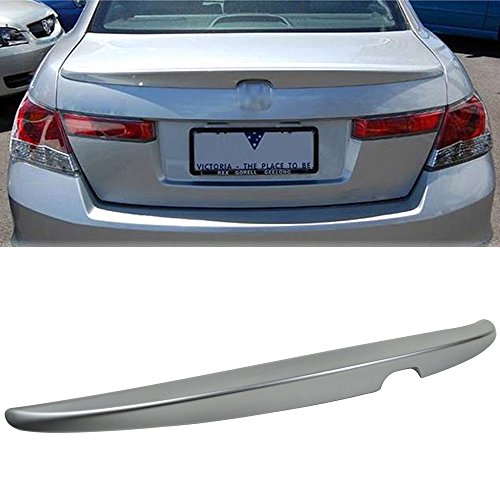 2010 Honda Silver Wing - Pre-painted Trunk Spoiler Fits 2008-2012 Honda Accord | Factory Style Painted #NH700M Alabaster Silver Metallic ABS Rear Tail Lip Deck Boot Wing other color available by IKON MOTORSPORTS | 2009 2010 2011