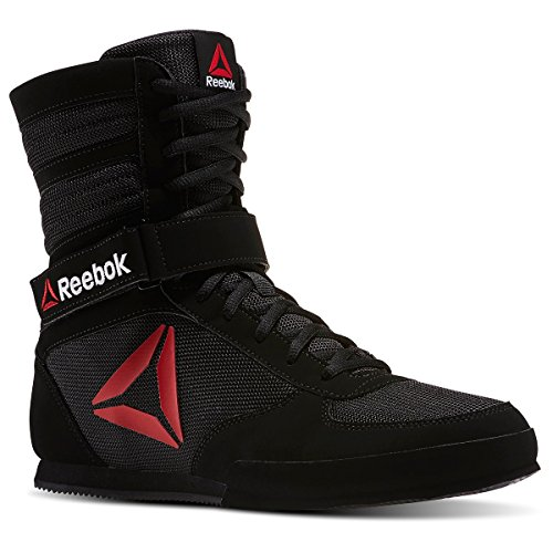 Reebok Men's Boxing Boot-Buck Sneaker, Delta Black/White, 9.5 M US
