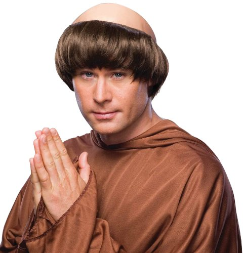 Friar Tuck Costumes - Forum Monk Wig with Tonsure, Brown,