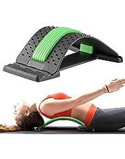 Gxhong Ryggsträckare ryggsträckare bakre stretch, ryggtränare för under och övre ländryggen, ryggsträckare ryggmassage stöd för kontorsstol fitness bakrätt stretch