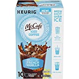 McCafe Unsweetened French Vanilla Iced Coffee K-Cup Pods, 10 Count, 4.5 Ounce
