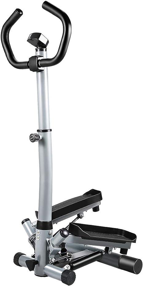 KUOKEL Mini escalera de fitness – Portátil Twist Escalera Stepper resistencia ajustable, Fitness ejercicio máquina con bandas de resistencia durable & visualización LCD y cómodo Pedales: Amazon.es: Deportes y aire libre