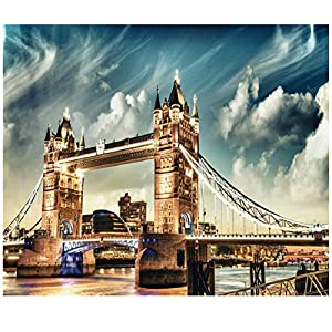 Chudu Londra Ponte Jigsaw Puzzle 1000 Pezzo Per Adulti In Legno Portatile Puzzle Arrotolabile Gioco Iq Sfida Regalo Fai Da Te Decorazione Di Arte