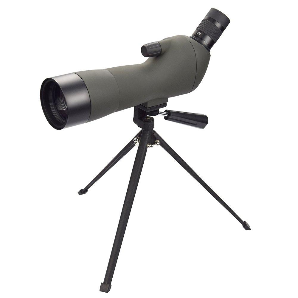 Feyachi Spotting Scope with Tripod,20-60x60AE Zoom Monocular Telescope with 45-Degree Angled Eyepiece for Bird Watching by Feyachi