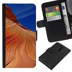 Planetar® Modelo colorido cuero carpeta tirón caso cubierta piel Holster Funda protección Para LG G3 / D855 / D850 / D851 ( Nature Beautiful Forrest Green 190 )