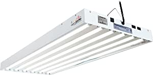 Agrobrite T5, 4 Foot, 6-Tube Fixture with Included Fluorescent Grow Lights