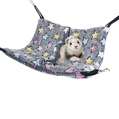 (Niteangel Cage Hanging Nap Sack Swing Napping Hammock for Ferret Rat Chinchilla Sugar Glider)