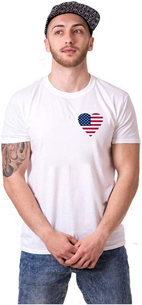 Couple Tshirts for Him and Her for Him American Flag Love Couple Tshirts for Him and Her Love for Him Shirt