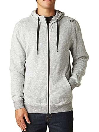 Fox Racing Mens Classix Fleece Hoody Zip Sweatshirt, Optic White, Large