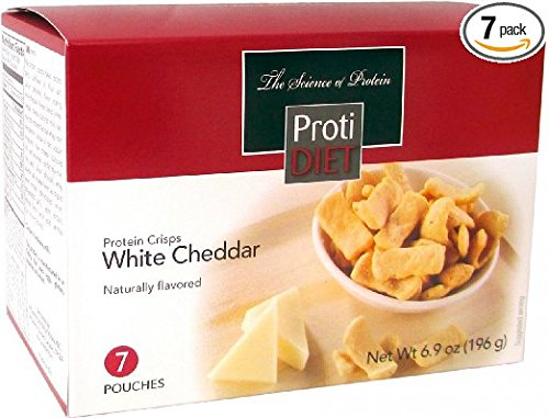 Crisps Cheddar - Proti Diet White Cheddar Protein Crisps (7 Pouches)