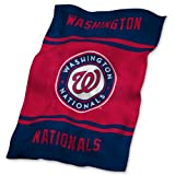 MLB Washington Nationals Ultrasoft Blanket, One Size, Multicolor