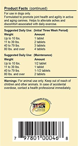 Picture of 270-Count Overby Farm Hip Flex Joint Level 3 Advanced Care with Tart Cherries (Chewable Tablets) for Dogs (3 Bottles with 90 Tablets Each)